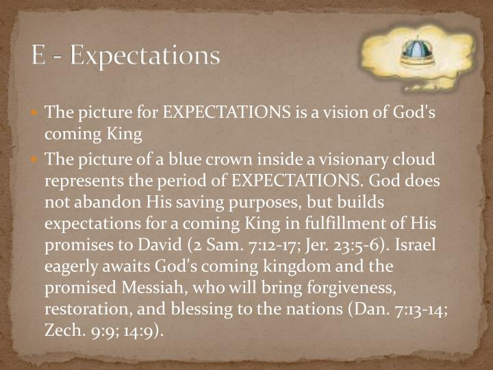 E - Expectations