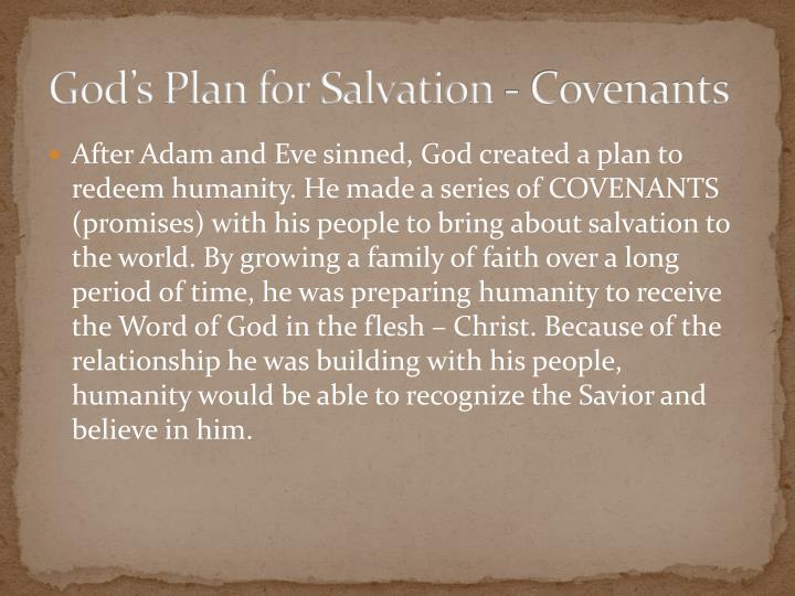 God's Plan for Salvation - Covenants