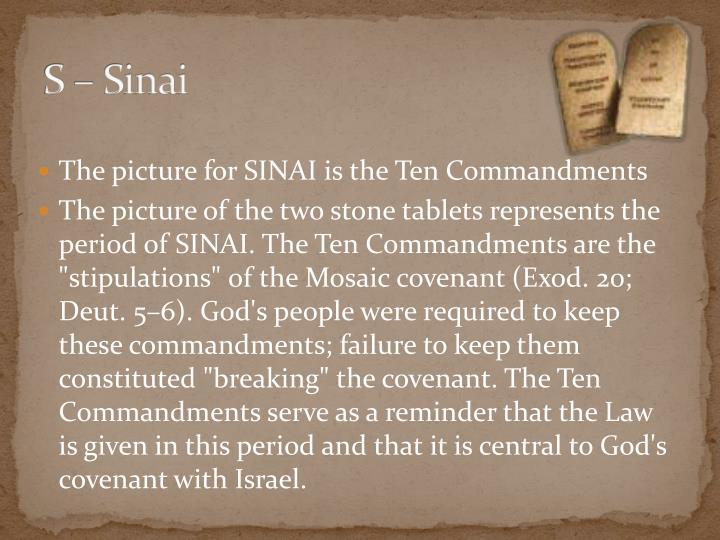S – Sinai