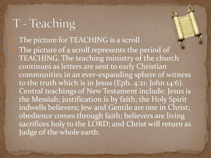 T - Teaching