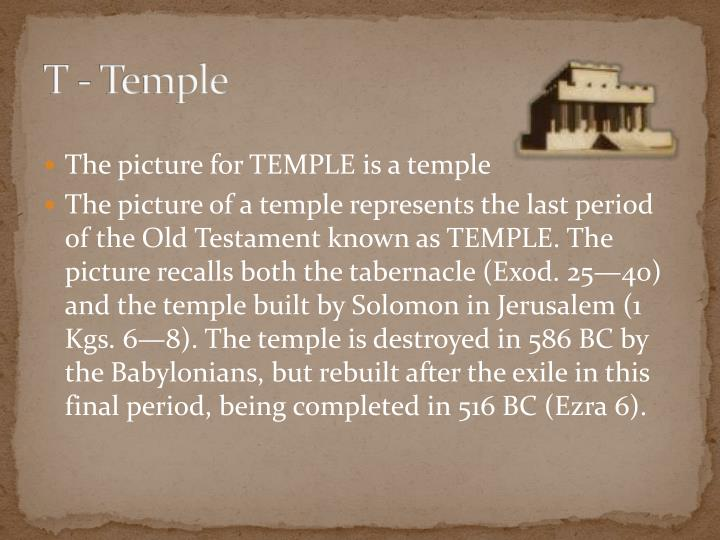 T - Temple