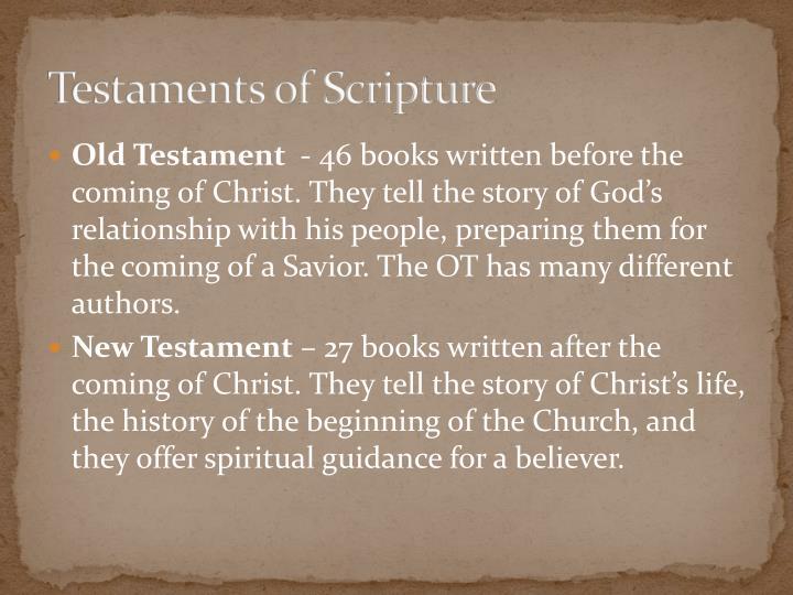 Testaments of Scripture