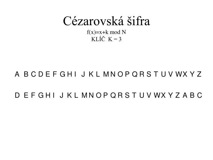 Cézarovská šifra
