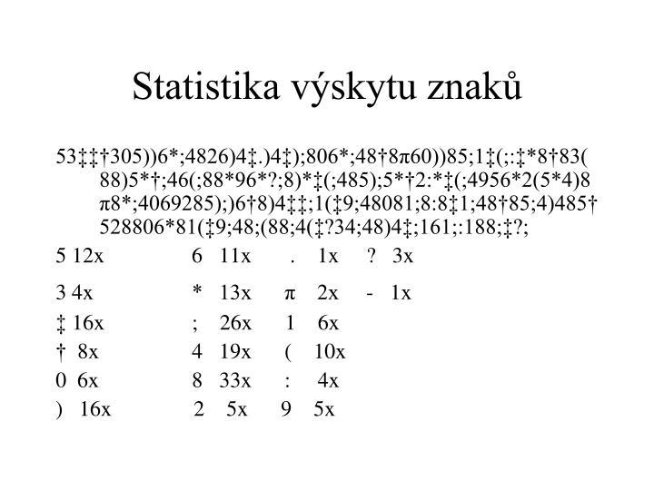 Statistika výskytu znaků