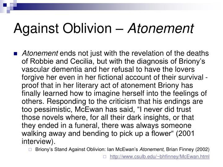 Against Oblivion –