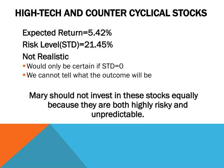 High-Tech and Counter Cyclical Stocks