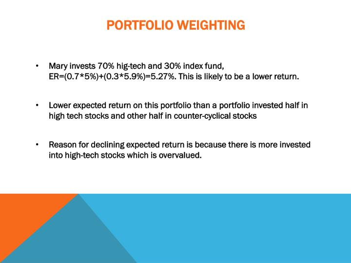 Portfolio weighting