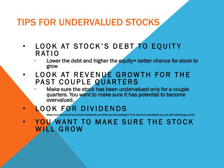 Tips for Undervalued Stocks