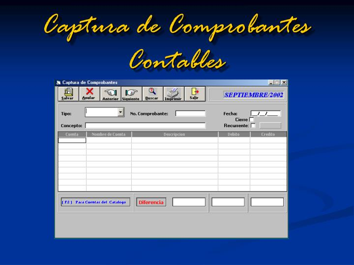 Captura de Comprobantes Contables