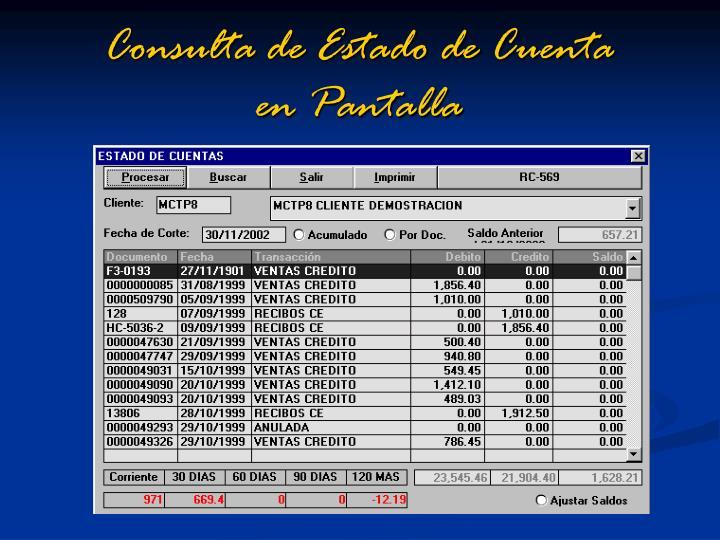 Consulta de Estado de Cuenta