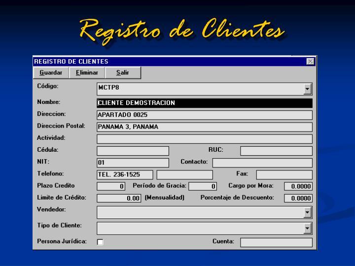 Registro de Clientes