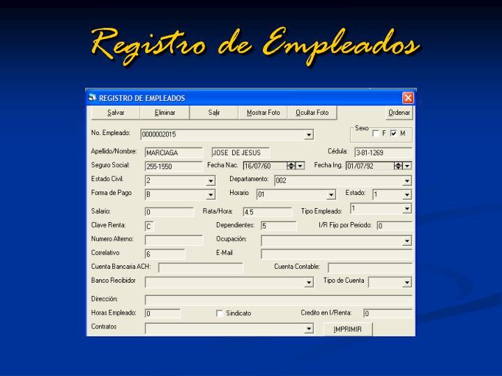 Registro de Empleados