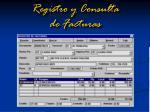 registro y consulta de facturas