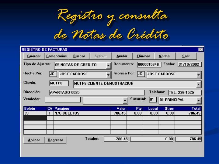 Registro y consulta