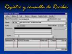 registro y consulta de recibos