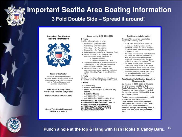 Important Seattle Area Boating Information