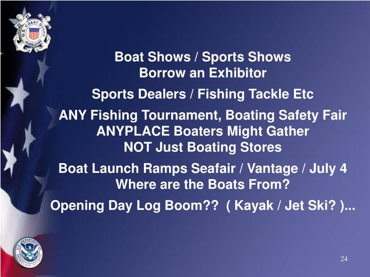 Boat Shows / Sports Shows