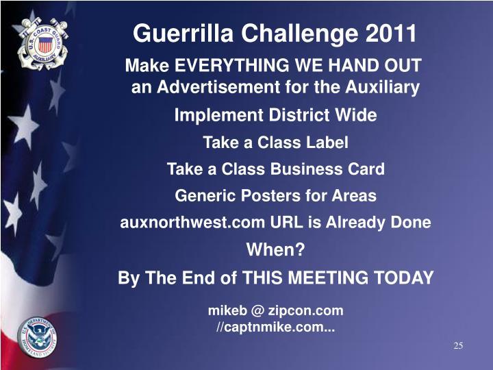 Guerrilla Challenge 2011