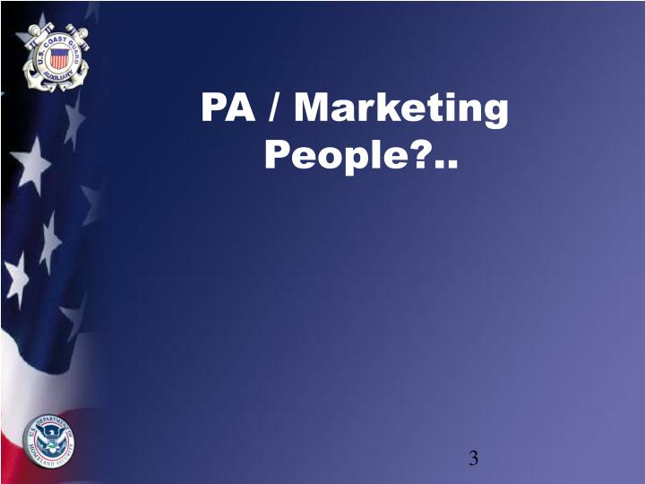 PA / Marketing