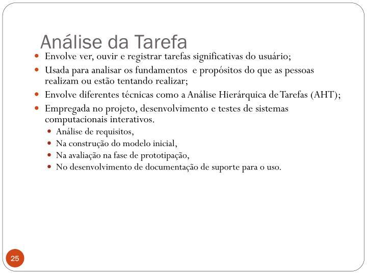 Análise da Tarefa