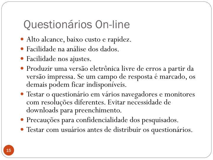 Questionários On-line