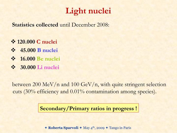Light nuclei