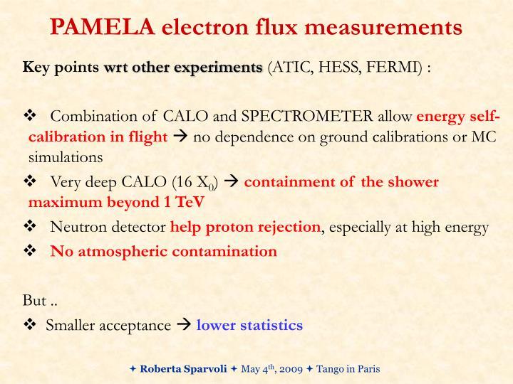 PAMELA electron flux measurements
