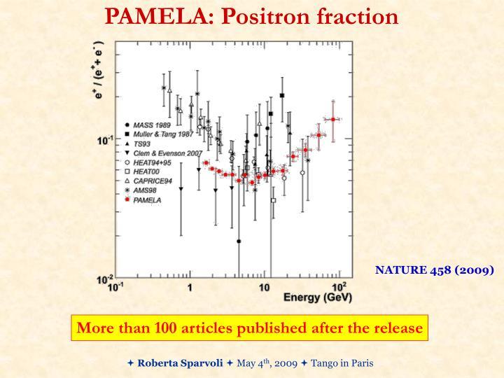 PAMELA: Positron fraction