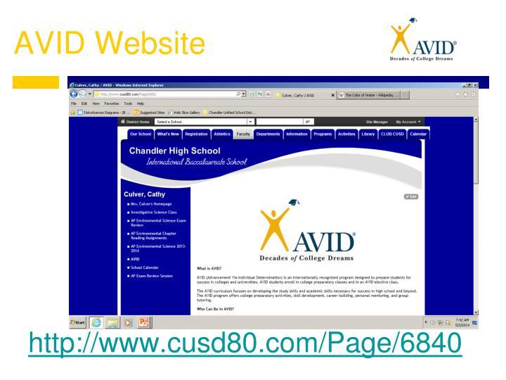 AVID Website
