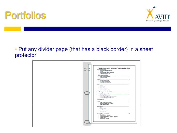 Put any divider page (that has a black border) in a sheet protector