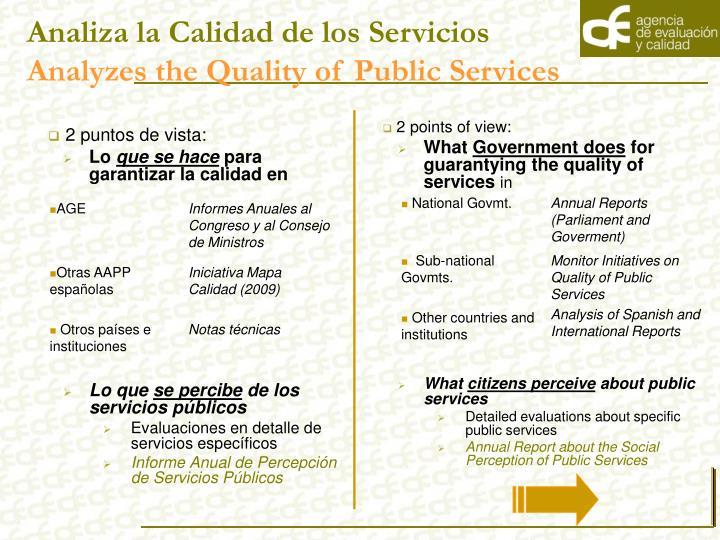 Analiza la Calidad de los Servicios