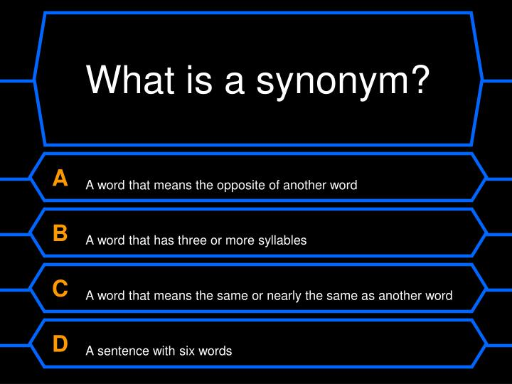 What is a synonym?