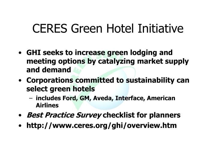 CERES Green Hotel Initiative