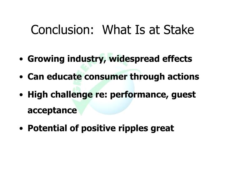 Conclusion:  What Is at Stake