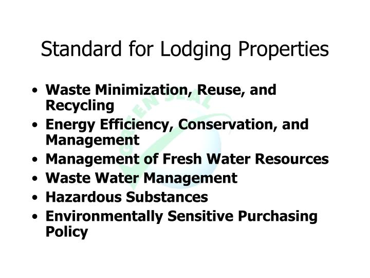 Standard for Lodging Properties