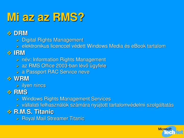 Mi az az RMS?