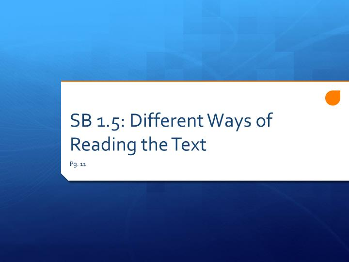 SB 1.5: Different Ways of Reading the Text