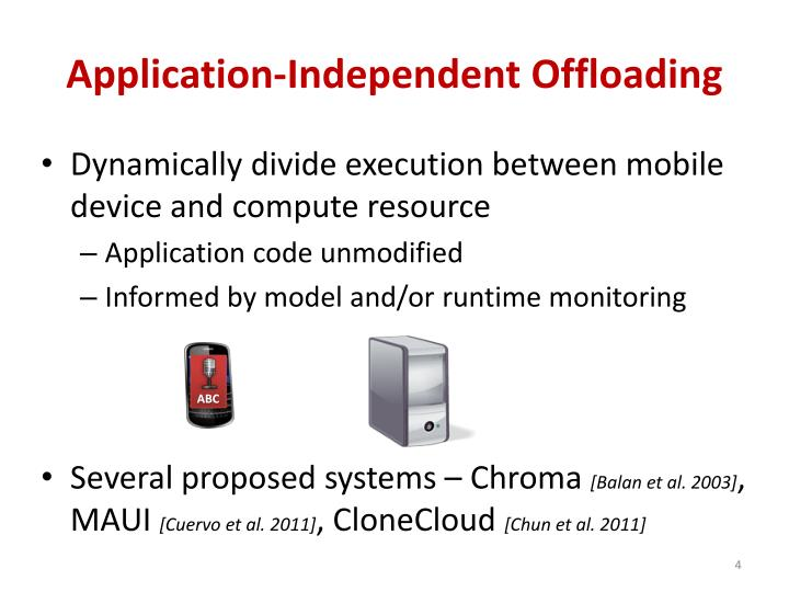 Application-Independent Offloading
