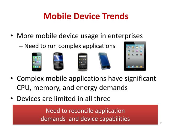 Mobile device trends