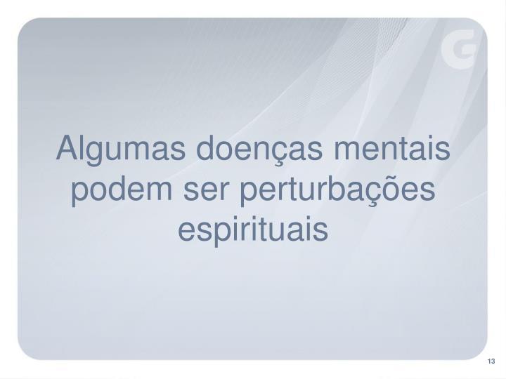 Algumas doenças mentais