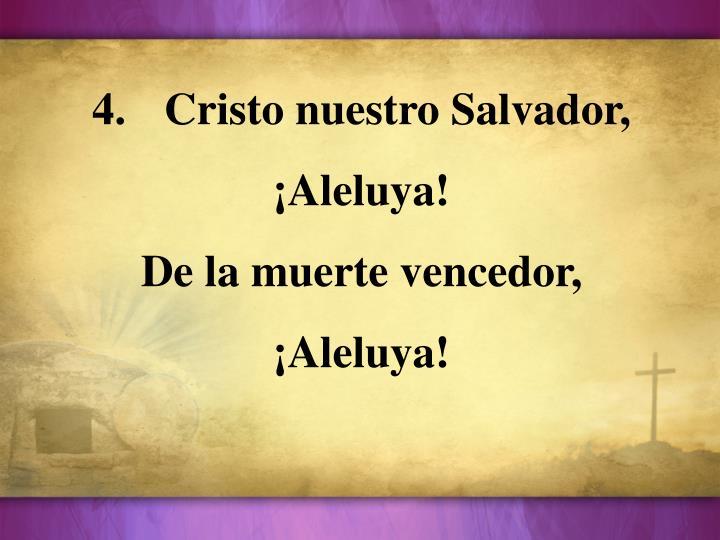 Cristo nuestro Salvador,