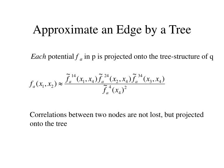 Approximate an Edge by a Tree