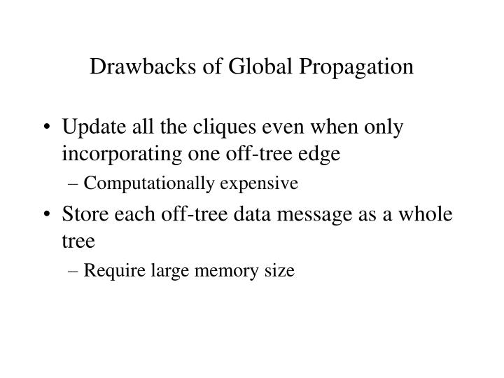Drawbacks of Global Propagation
