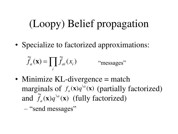 (Loopy) Belief propagation