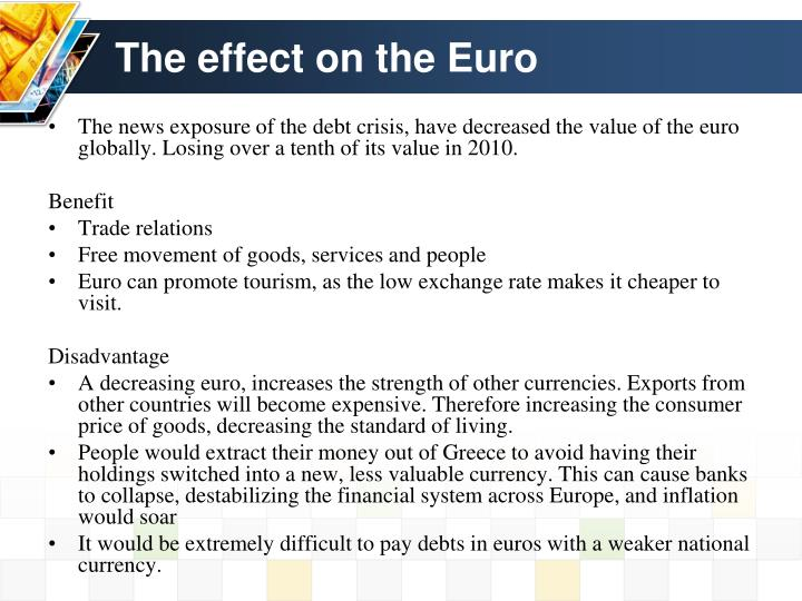 The effect on the Euro