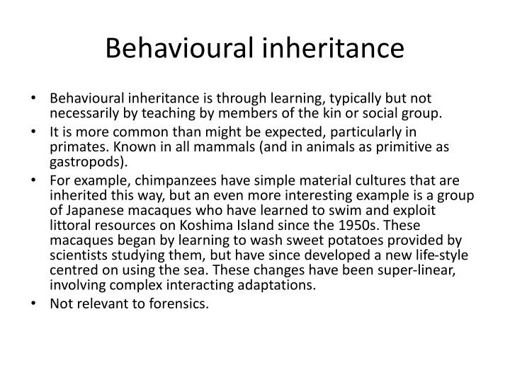 Behavioural inheritance