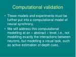 computational validation