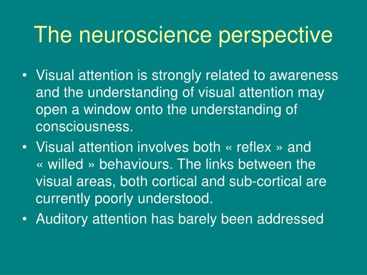 The neuroscience perspective
