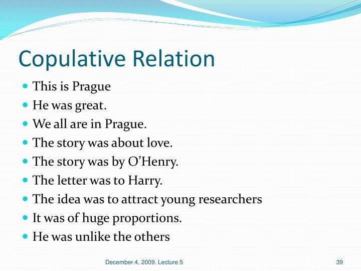 Copulative Relation