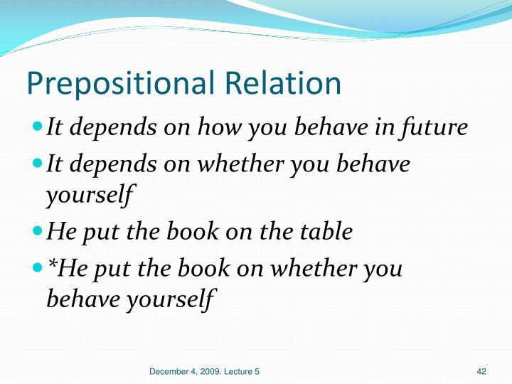Prepositional Relation
